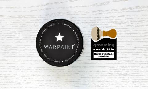 Bästa oväntade produkt 2016 - Warpaint Natural Teeth Whitener