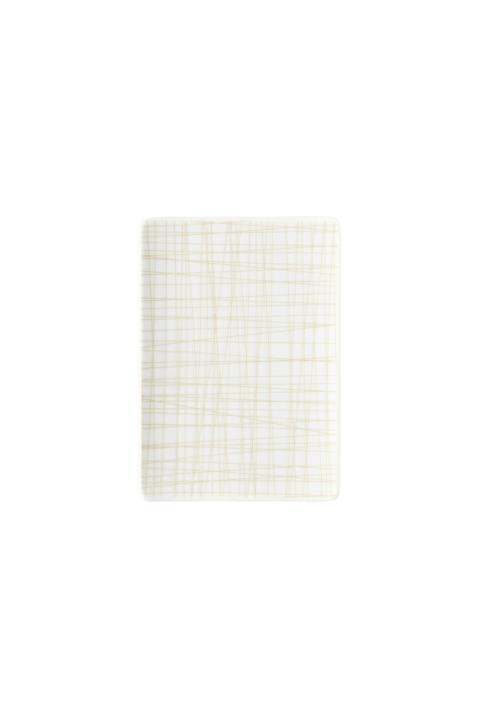 R_Mesh_Line Cream_Platter flat 18 x 13 cm