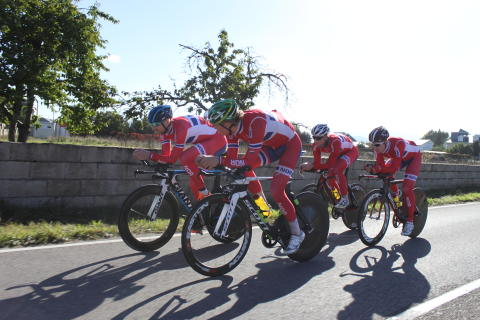 De norske temposyklistene under sykkel-VM 2014