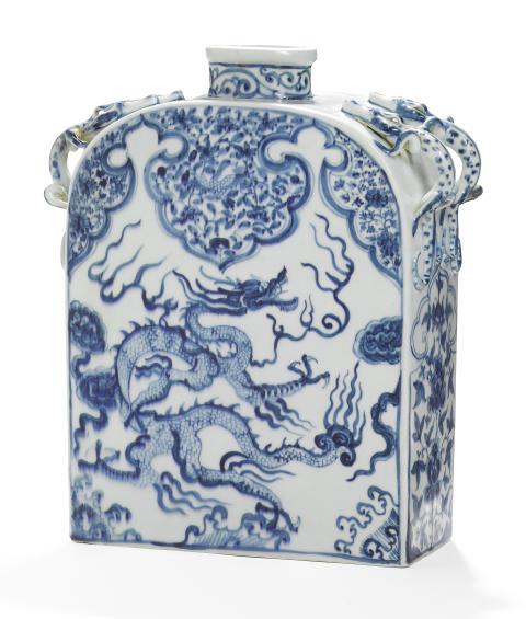 Kinesisk flaske, Yuan 1280-1368. H. Vurdering: 1-1,5 mio. kr.