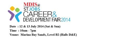 MDIS @ STJobs Career & Development Fair 2014