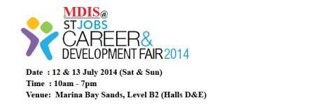 MDIS @ STJobs Career & Development Fair 2014