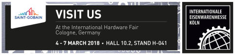 Saint-Gobain Abrasives on näytteilleasettajana Eisenwarenmesse – International Hardware Fair 2018 –messuilla