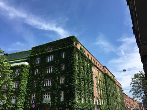 Fasad, Brf NEO, Davidshall, Riksbyggen, Malmö