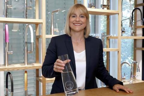 GROHE med ny avdeling for vannsystemer, filtere og kjøkkenkanalen i EMENA. Andrea Bußmann tar over som senior visepresident.