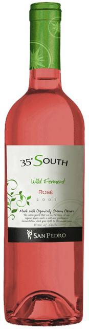 """Den stora """"vinfamiljen"""" Viña San Pedro lanserar 35 South Wild Fermented Rosé 2008 på Systembolaget den 2 maj."""