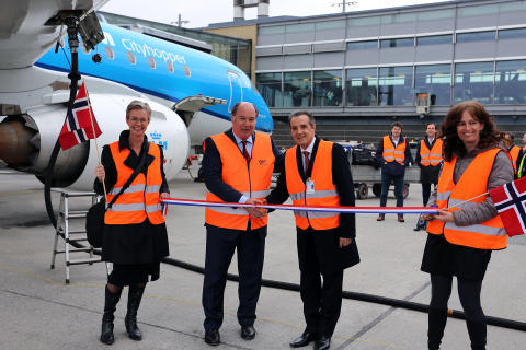 Opening of flights with biojet fuel from OSL to AMS