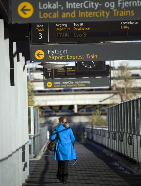 Rekordhøy kollektivandel ved Oslo Lufthavn
