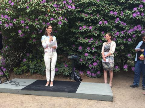 Invigningen av kung Carl XVI  Gustafs rhododendronkollektion
