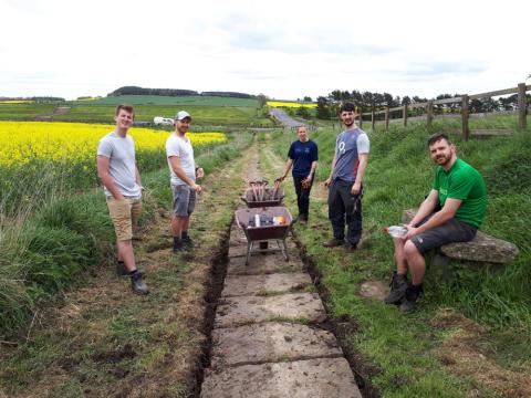 Ashington Volunteers Hadrians Wall Trail Path