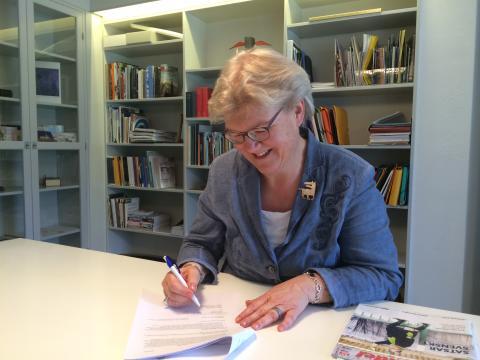 Riksbibliotekarie Gunilla Herdenberg