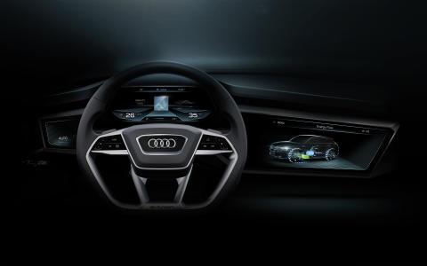 Audi h-tron quattro display