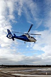 Ambulanshelikoptern på Akademiska firar 20 årsjubileum