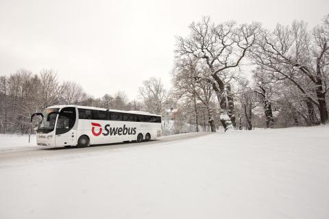 Swebus ökar platserna i jul med 100 extrabussar