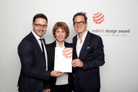 Zwei Design Preise für Felix Burda Stiftung: red dot award und BERLINER TYPE