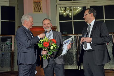 Prof. Werner Schneider, Initiator der Leipziger Notenspur, wurde mit dem zweiten Platz in der Kategorie Persönlichkeiten geehrt