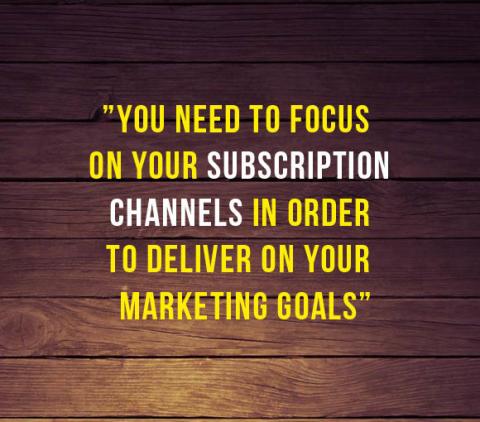 Målet med content marketing: skaffa prenumeranter!