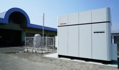 Toshiba's 100kW Pure Hydrogen Fuel Cell System Realizing CO2 Free Electricity Generation is now Operating in Japan
