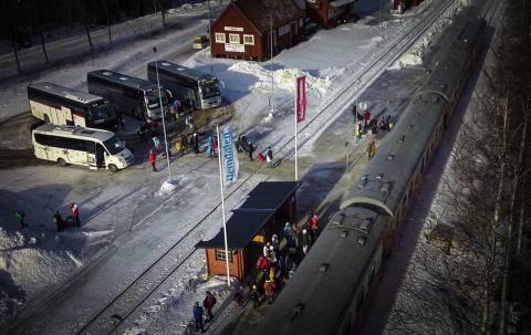 Rekord för tågsatsning på Inlandsbanan