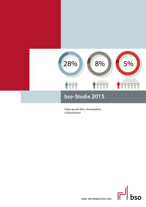 bso-Studie 2015 – Status-quo der Büroarbeitsplätze in Deutschland