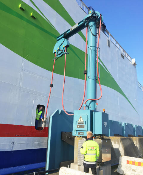 Stena Line och Trelleborgs Hamn inviger landström