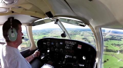 Flying tax fraudster grounded