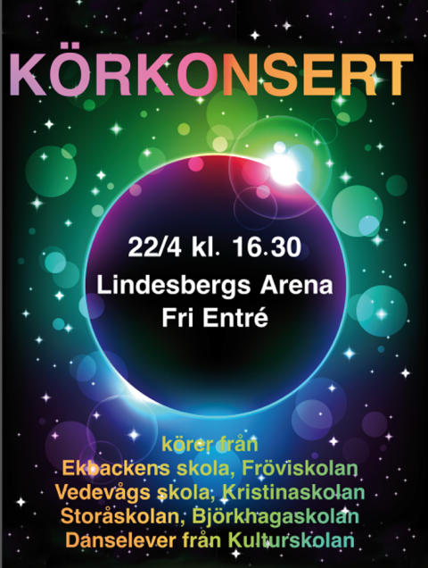 Skolkörer i Lindesberg i gemensam konsert
