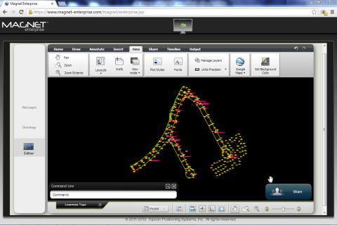 Topcon presenterar direkt-länk i molnet mellan MAGNET Enterprise och AutoCAD WS