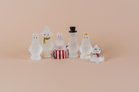 NYHET Mummi glassfigurer