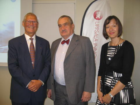 Lars Olde, UIC, tillsammans med Tjeckiens utrikesminister och ambassadör