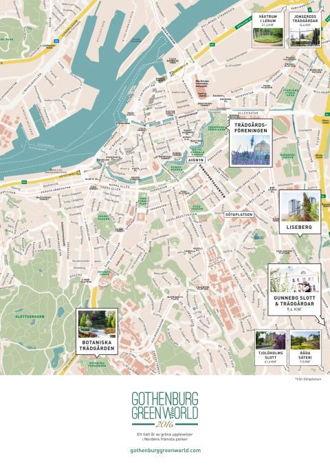 Gothenburg Green World 2016 - karta
