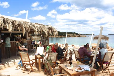 Beachclub Babylon Beach på Ibiza.