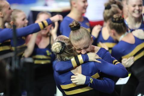 Damlandslaget i truppgymnastik tar guld i EM