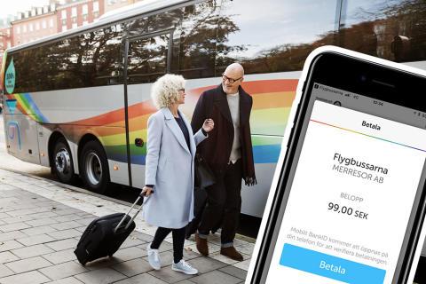 Flygbussarna lanserar Swish på webbplats och i app