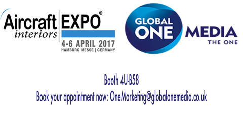 MEET GLOBAL ONE MEDIA AT THE AIRCRAFT INTERIORS EXPO