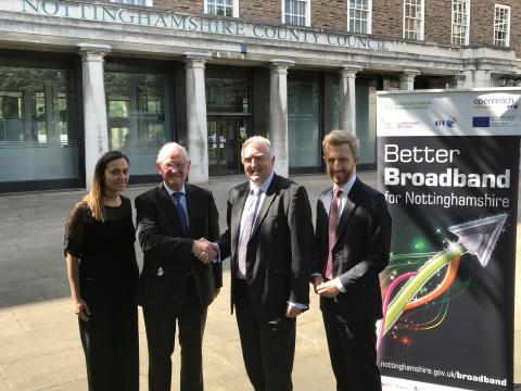 Broadband boost announced for Nottinghamshire