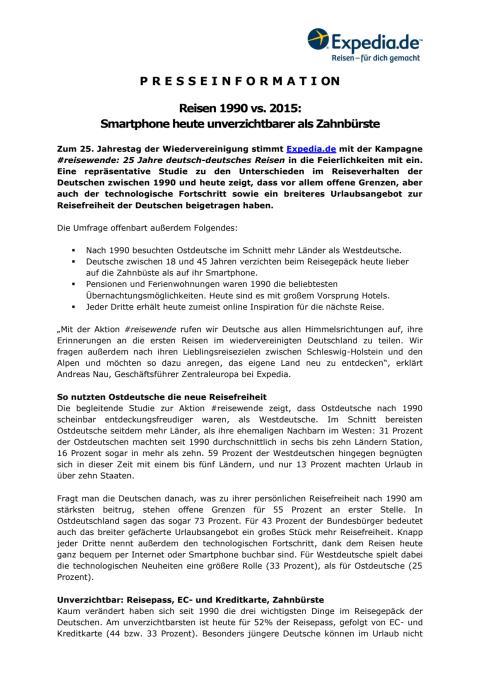 Pressemitteilung Smartphone heute unverzichtbarer als Smartphone