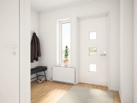 Brf Sundby Äng - 3D-bild av hallen