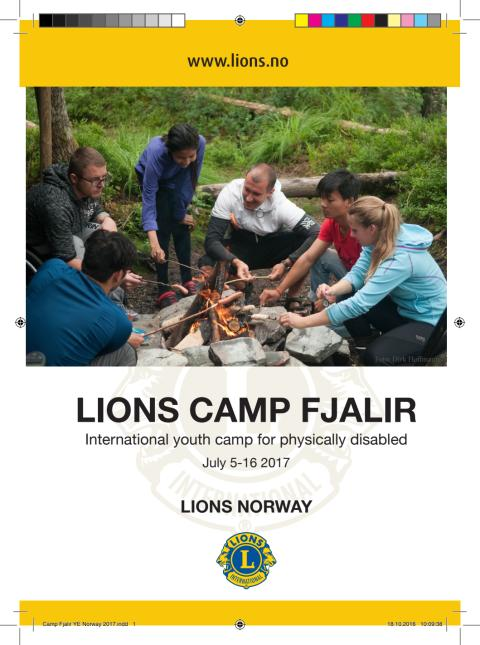 Brosjyre for Camp Fjalir 2017