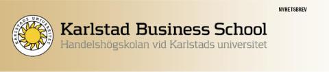 Bildhuvud nyhetsbrev Handelshögskolan vid Karlstads universitet