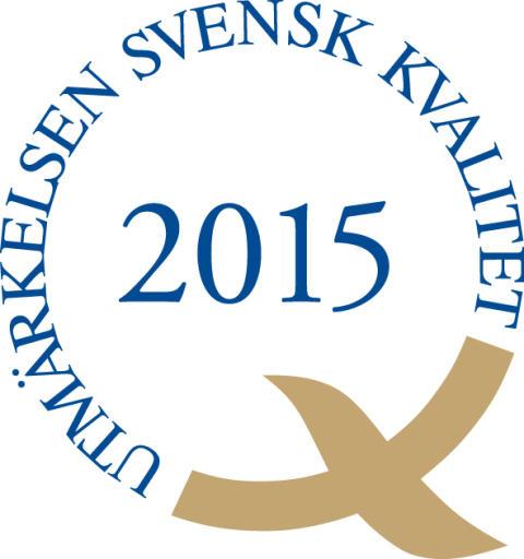 SIQ Logga Utmärkelsen Svensk Kvalitet 2015