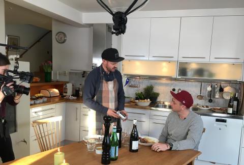 Petter premiärgäst när Wine & Friends lanserar webb-TV-serie