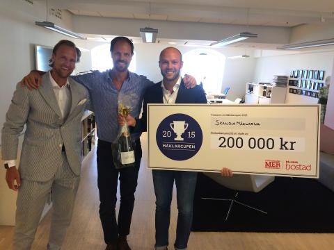 SkandiaMäklarnas sommarkampanj bäst i nya branschtävlingen Mäklarcupen