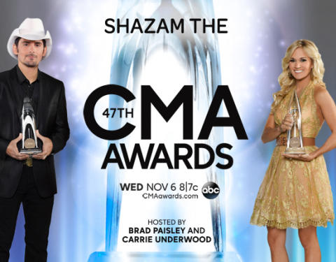 The CMA Awards – Country Music's Biggest Night™   – is Shazamable
