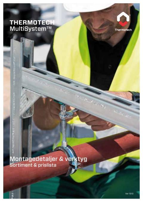 Broschyr - Sortiment Montagedetaljer & verktyg 2016 (MultiSystem)