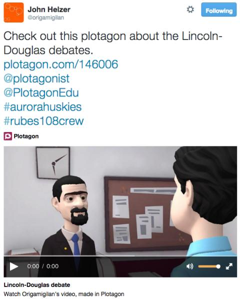 Lincoln-Douglas Debates re-enacted by students with Plotagon Education