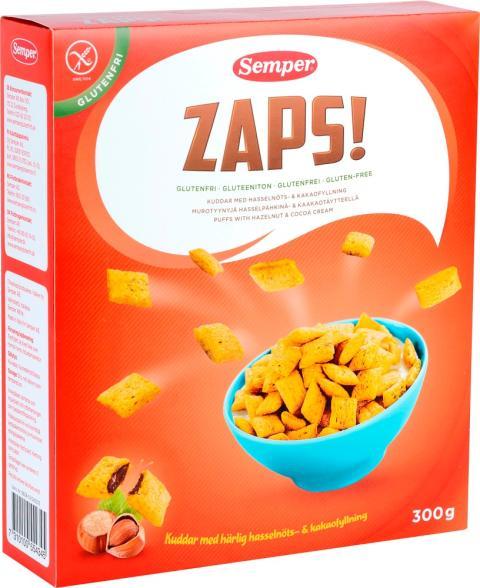 ZAPS! en velsmakende glutenfri nyhet til frokostbordet!