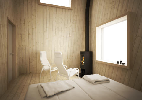 Arctic Bath Hotellrum interiör