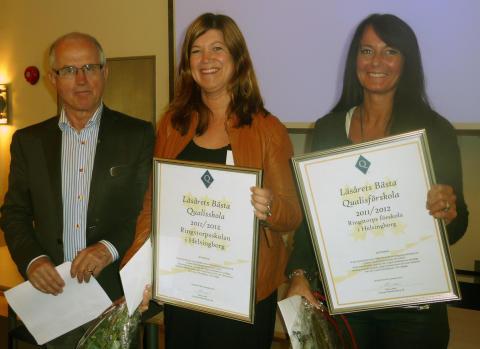 Läsårets Bästa Qualisförskola och Qualisskola 2011/2012 är utsedda