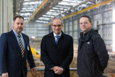 Hitachi Rail Europe celebrates topping out at new Stoke Gifford Train Maintenance Centre